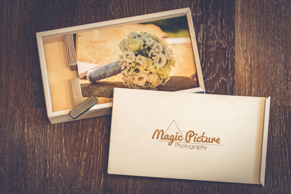 Magic Picture Übergabe Box mit USB Stick Handmade